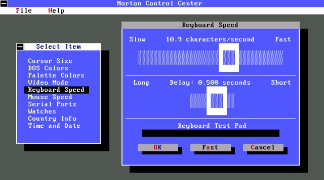 Norton Utilities Control Center