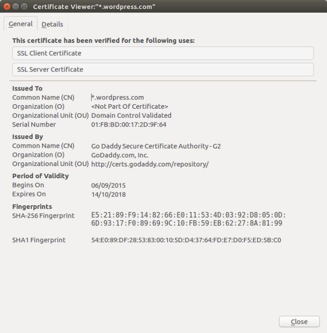 Certificado deste blog